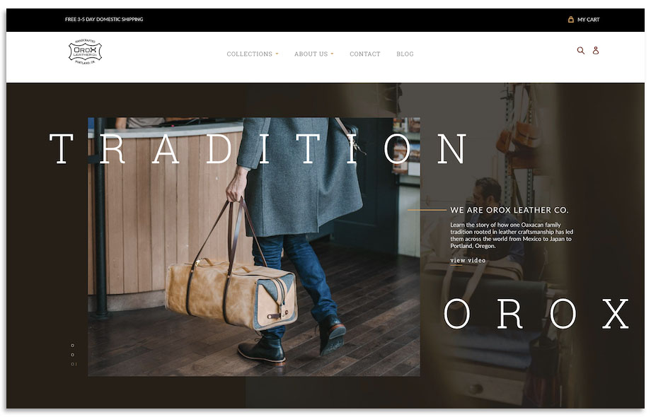 Orox Leather Co Website Design