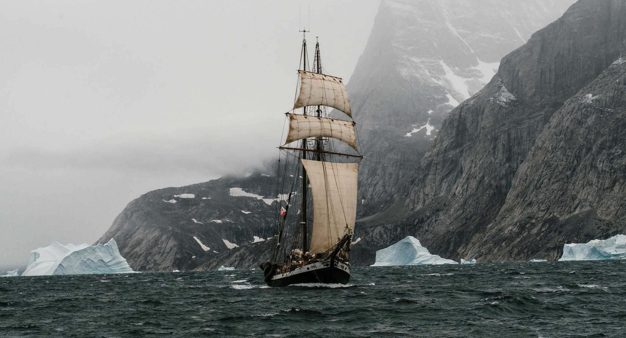 Photography of an Expedition Ship Sailing the Arctic for WE ARE PDX Digital Creative Agency by Nick Bondarev
