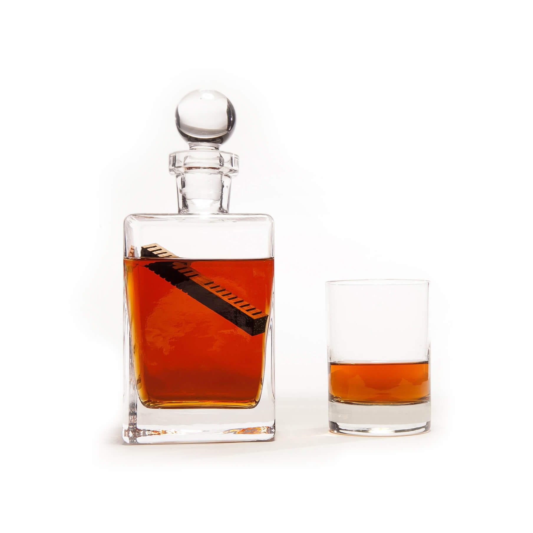 Whiskey Elements in a decanter and glass